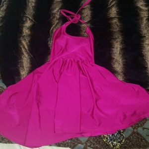 American Apparel pink skater dress small